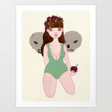 Lucha Girl Art Print