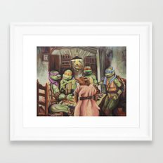 The Pizza Eaters Framed Art Print