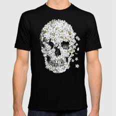 A Beautiful Death - mono SMALL Mens Fitted Tee Black