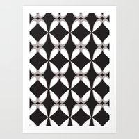 Deco Flowing Pattern  Art Print