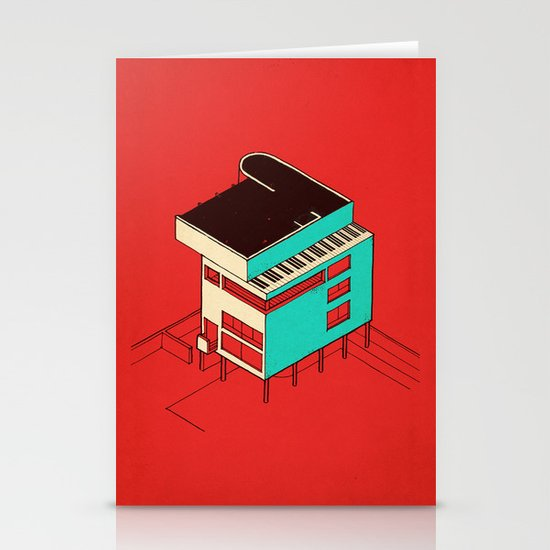 Music & Architecture Stationery Card