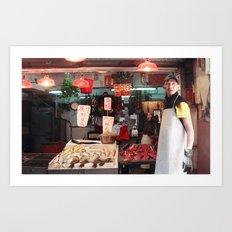 Hong Kong Market Art Print