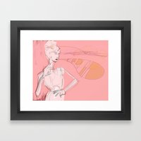 untitled: BLAH, BLAh. Framed Art Print