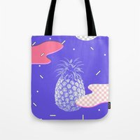 Pineapple 3d express 90'S  Tote Bag
