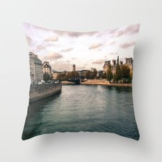 River Seine, Paris Throw Pillow