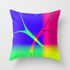It's All About The Colours Throw Pillow