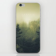 Forests never sleep iPhone & iPod Skin