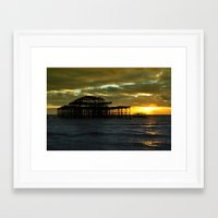 Brighton West Pier Framed Art Print