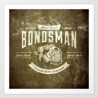 Beast Coast Bondsman (WHITE) Art Print