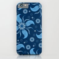 Floral Obscura Dark Blue iPhone 6 Slim Case