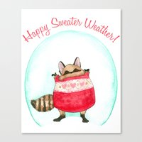 Happy sweater weather! Canvas Print