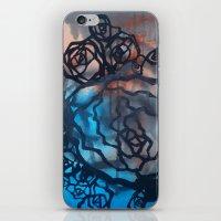 Brick and marine roses iPhone & iPod Skin