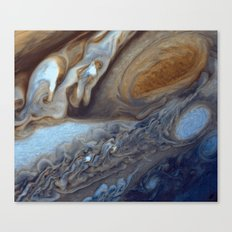 Jupiter The Great Red Spot  Canvas Print