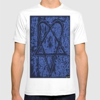 Nightfall Blue Heartagra… Mens Fitted Tee White SMALL