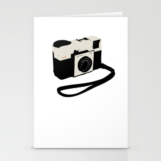 ivory kodak instamatic camera Stationery Card