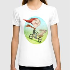 Bicicleta Womens Fitted Tee White SMALL