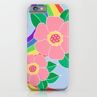 iPhone & iPod Case featuring Rainbow flowers by ArtByBeata