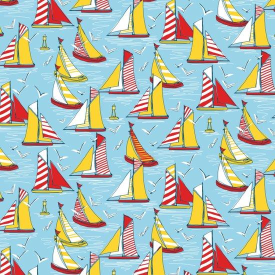 seagulls and sails Art Print