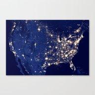 City Lights Of The Unite… Canvas Print
