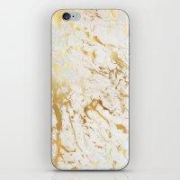 Gold marble iPhone & iPod Skin