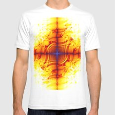 multiple mirrors Mens Fitted Tee White SMALL