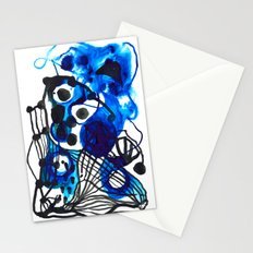 Paint 5 abstract minimal modern painting trendy bold painterly dorm college urban apartment decor Stationery Cards