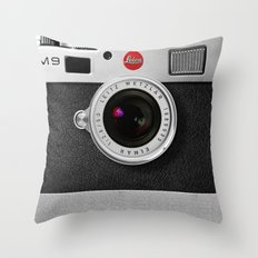 Classic Retro Black Silv… Throw Pillow