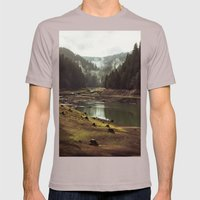 Foggy Forest Creek Mens Fitted Tee Cinder SMALL