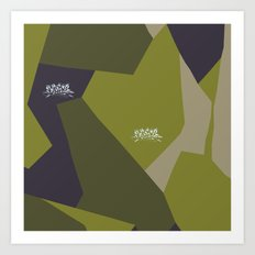 Swedish Camo Graffiti Art Print