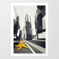 No taxi's in New York Art Print