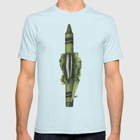 To The Core: Green Mens Fitted Tee Light Blue SMALL