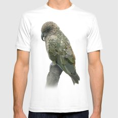Kea Pattern Mens Fitted Tee SMALL White