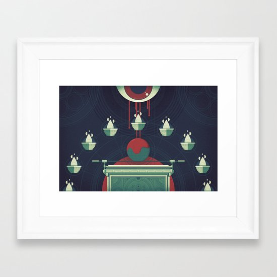 Swallowed by the Earth (by Justin Mezzell) Framed Art Print