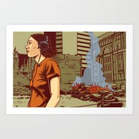 Locals Only - Portland, … Art Print