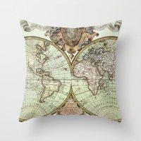 Mappemonde Throw Pillow