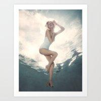 Marilyn Underwater Celebrity  Art Print