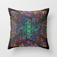 Textured pt1 Throw Pillow