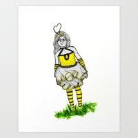 The BumbleBee Girl  Art Print