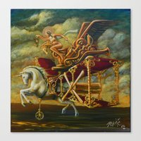 Flight of the Byplaneacorn Canvas Print