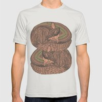 Sleeping foxes Mens Fitted Tee Silver SMALL
