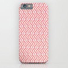 Red Geometric Watercolor Pattern iPhone 6 Slim Case