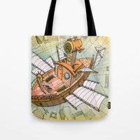 Atlantis Flying Ship #1 Tote Bag