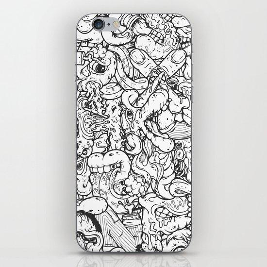 Alphabetcha Collage b&w iPhone & iPod Skin