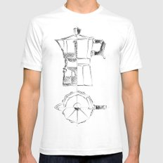 Coffee pot blueprint sketch  Mens Fitted Tee SMALL White