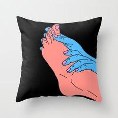 Feeling Around Throw Pillow