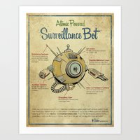 Surveillance Bot Eyeball… Art Print