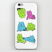 Fluro Cats iPhone & iPod Skin