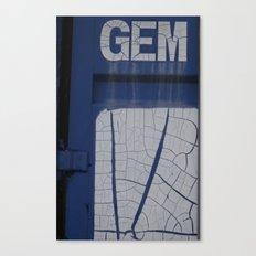 gem blue Canvas Print