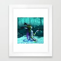 Turquoise Island Framed Art Print