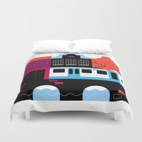 Postcards from Amsterdam / Tram Duvet Cover